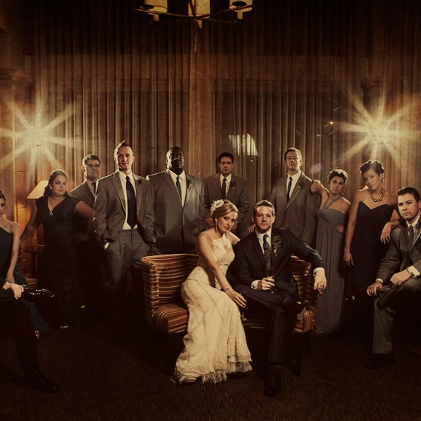 Dena & Ryan: A Mad Men wedding